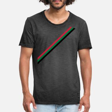 Land strip - flag - Vintage T-shirt mænd