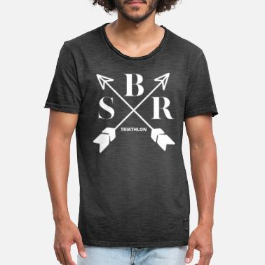 Triathlon arrows design - Men's Vintage T-Shirt