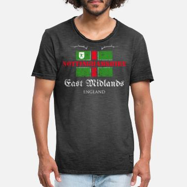 West Midlands Nottinghamshire - East Midlands - England - Männer Vintage T-Shirt
