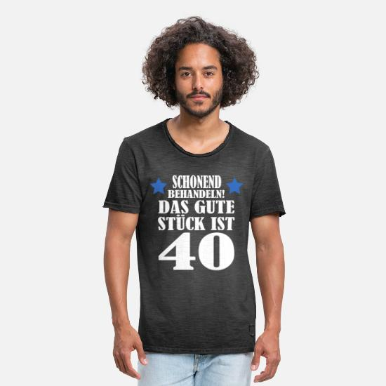 40th Birthday T-Shirts - 40th birthday - Men's Vintage T-Shirt washed black