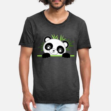 Look Out Panda looks out. - Men's Vintage T-Shirt