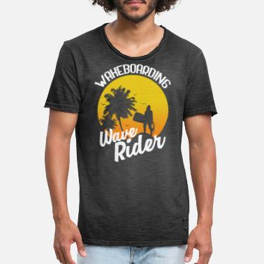 Wakeboard Wakeboarding wave rider - T-shirt vintage Homme