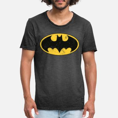 Superhelt Batman Logo Used Look T-skjorte for tenåringer - Vintage T-skjorte for menn