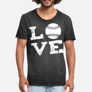 I Love Softball LOVE - Softball - Men's Vintage T-Shirt