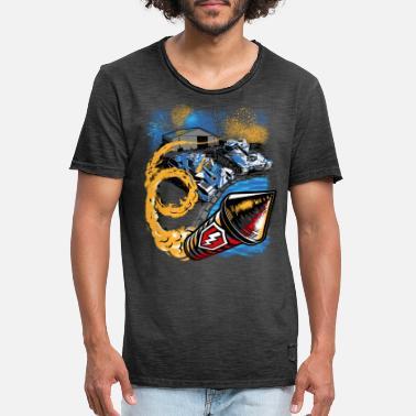 World Of Tanks Blitz Birthday Party - Men's Vintage T-Shirt