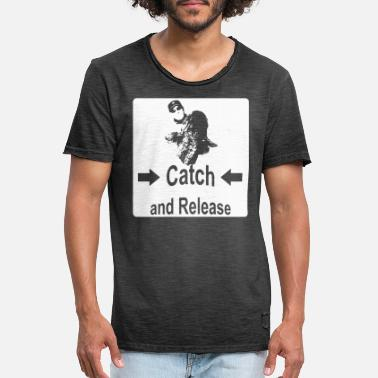 Wels Catch and Release - Männer Vintage T-Shirt