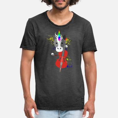 Octave Cello Unicorn - Men's Vintage T-Shirt