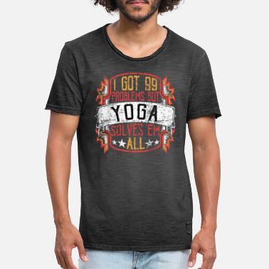 99 Problems Yoga - Mannen vintage T-shirt