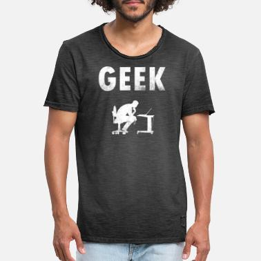 Information Computer Geek Pride Male Mens Kids - Men's Vintage T-Shirt