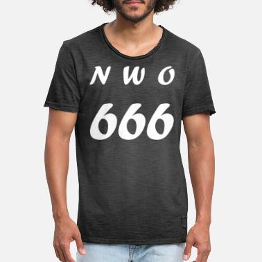 New World Order NWO 666 (New World Order) - Vintage T-skjorte for menn