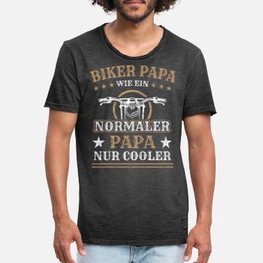 Ich Bin EIN Biker Papa wie EIN normaler Papa Aber viel Cooler Motorsport Shirt Tshirt Fanartikel Fanshirt M/änner Herren Fun-T-Shirts