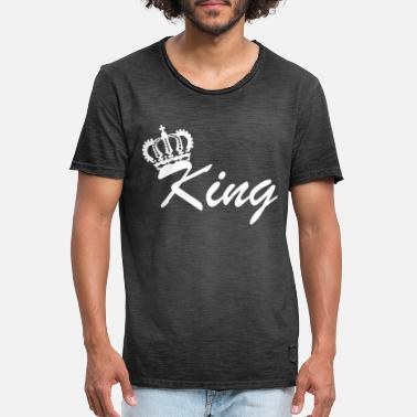 Power King crown king partner look powerful gift idea - Men's Vintage T-Shirt