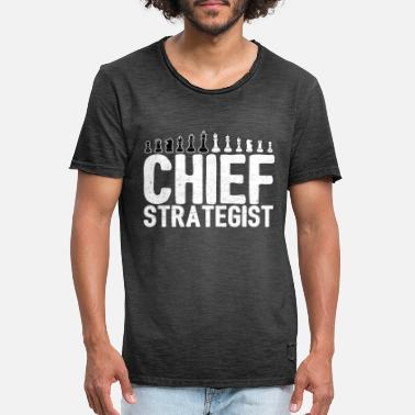 Chess Chief Strategist Chess Master Gift - Vintage T-shirt mænd