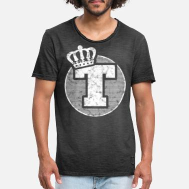 Stylish letter T with crown - Men's Vintage T-Shirt