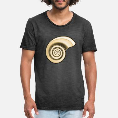 Golden Ratio Shell in golden ratio (golden ratio) - Men's Vintage T-Shirt