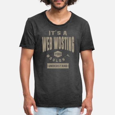 Web Comic Web Wosting Thing - Mannen vintage T-shirt