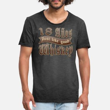 Operator 18 years Anos Old Whiskey label for his birthday - Men's Vintage T-Shirt