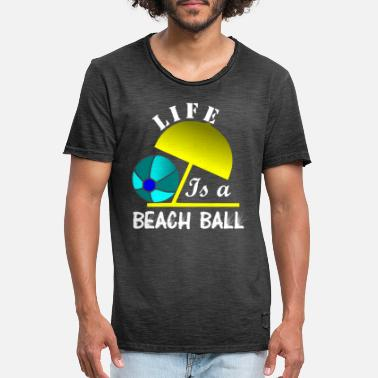 Beachball Livet er en BEACHBALL - Vintage T-shirt mænd