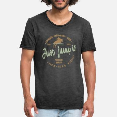 Jumping JUMPING HORSE HORSES horse riding - Men's Vintage T-Shirt
