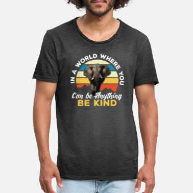 Can In a World where you can be anything be Kind - Men's Vintage T-Shirt