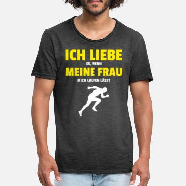 Laufen Joggen Läufer Training Run Fitness Sportler - Männer Vintage T-Shirt
