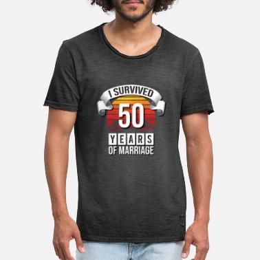 Goldhochzeit I survived 50 years of marriage! - Men's Vintage T-Shirt