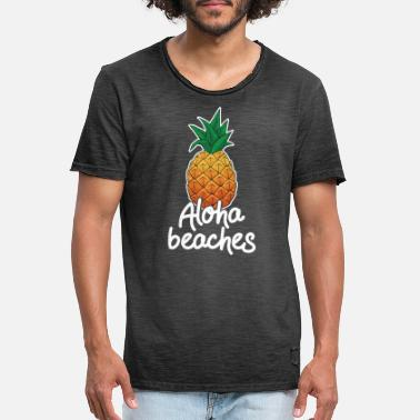 Funny Hawaii Vacation Aloha Beaches Pineapple Gift - Men's Vintage T-Shirt