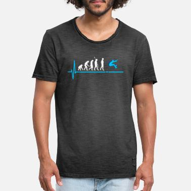 Long Jump Evolution Athletics - Men's Vintage T-Shirt