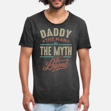 Myth Daddy The Myth The Legend - Vintage T-shirt mænd