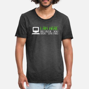 Ticker IT Computer IT Support IT Ticker System - Men's Vintage T-Shirt