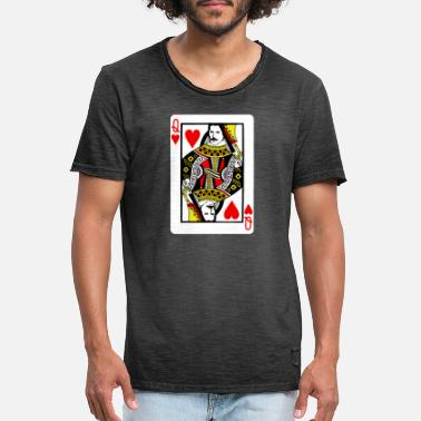 Cards Queen Card King Card Game Gift - Mannen vintage T-shirt