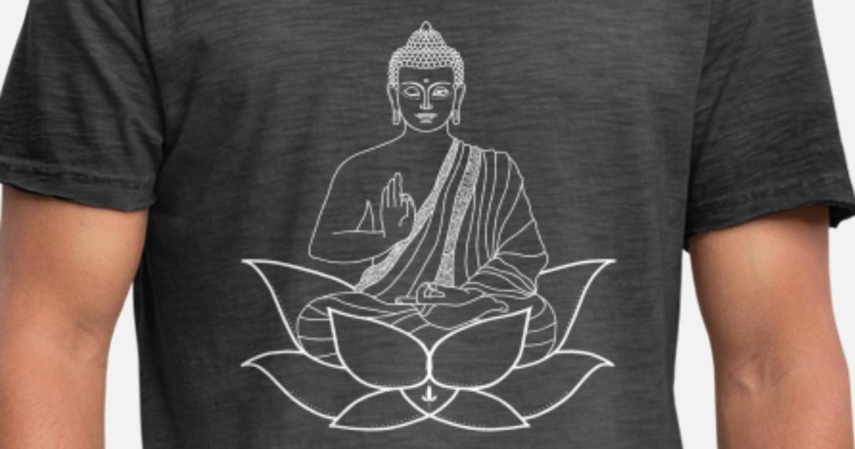 Fleur de Lotus Homme T shirt Eternity pureté Renaissance Bouddhisme Hindouisme