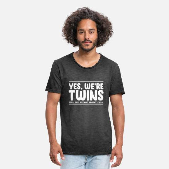 Siblings T-Shirts - Twins - Men's Vintage T-Shirt washed black