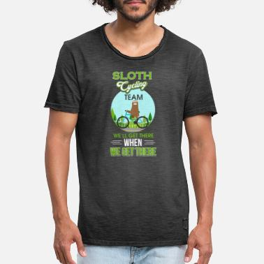 Sloth Cycling Sloth Cycling Team - Men's Vintage T-Shirt
