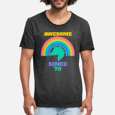 Awesome Since Awesome Since 70 - Men's Vintage T-Shirt