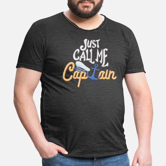 Kaptein Bare kall meg kaptein båt Vintage T skjorte for