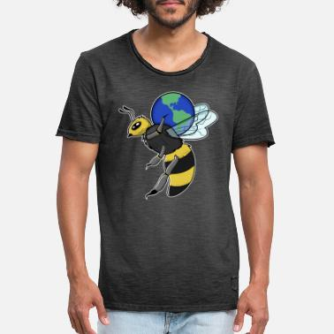 Save The Bees Save Bees Save the World - Maglietta vintage uomo