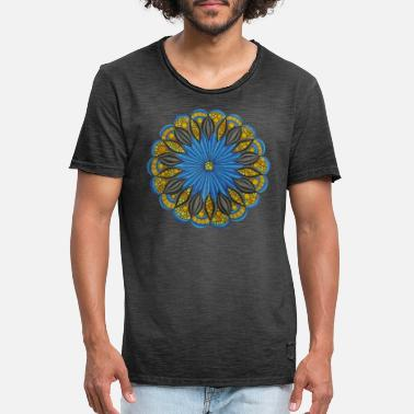 Cool Pictures Mandala. cool pictures, freedom, funny pictures - Men's Vintage T-Shirt