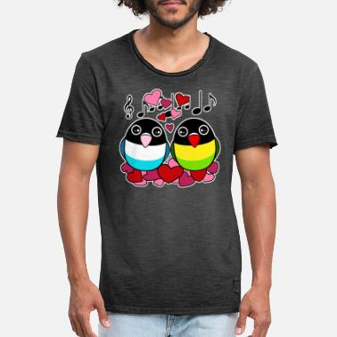 Parrot Personata in love - Men's Vintage T-Shirt