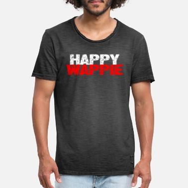HAPPY WAPPIE - Mannen vintage T-shirt