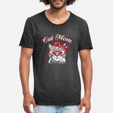 Cat Mom Funny Cat Mom Shirt for Cat Lovers Mothers Day - Men's Vintage T-Shirt