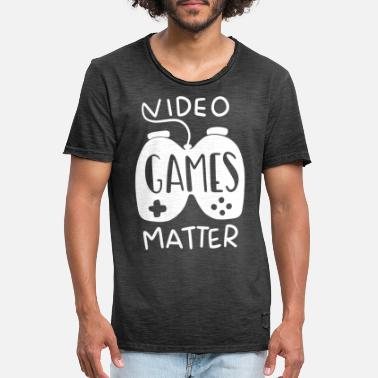 Funny Video Game Funny Video Game Gift - Men's Vintage T-Shirt