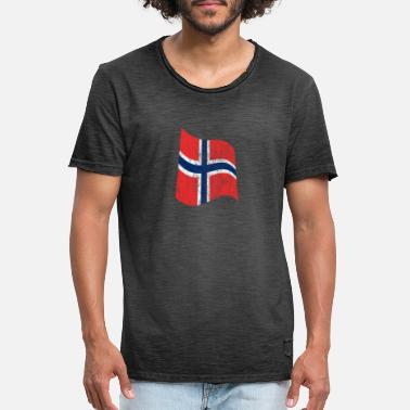 Nationalfarben Flagge Norway 5400 - Männer Vintage T-Shirt
