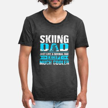 Snow Ski skiing Ice skating Snow winter gift - Men's Vintage T-Shirt