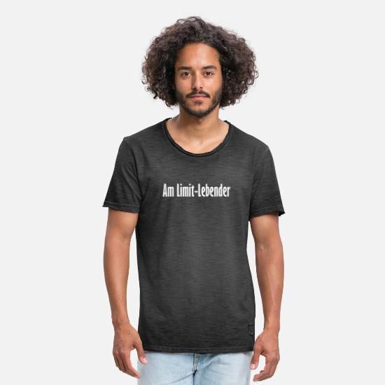 Border T-Shirts - At the limit-living - Men's Vintage T-Shirt washed black
