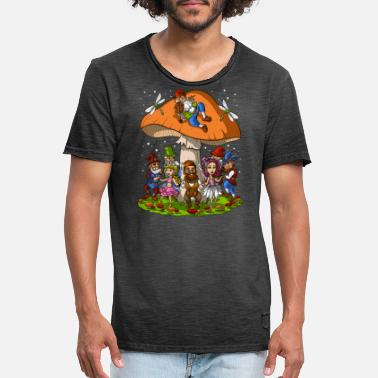 Party Magic Mushrooms Gnomes Party - Men's Vintage T-Shirt