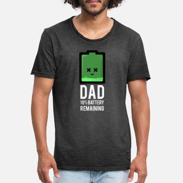Battery Dad 10% Battery Remaining - Men's Vintage T-Shirt