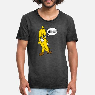 Funny Jokes Yellow? Funny Banana Joke - Men's Vintage T-Shirt