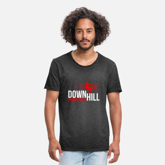 Stunt T-shirts - Down Hill - Vintage T-shirt mænd vintage-sort