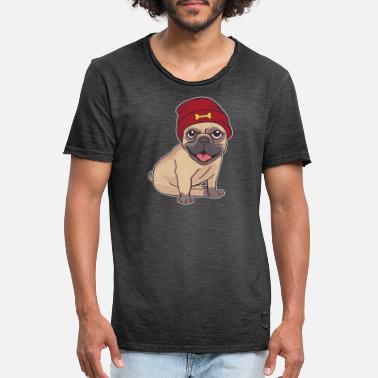 93d2fb58bc38f Hip Hop Deporte perro cool hip hop - Camiseta vintage hombre
